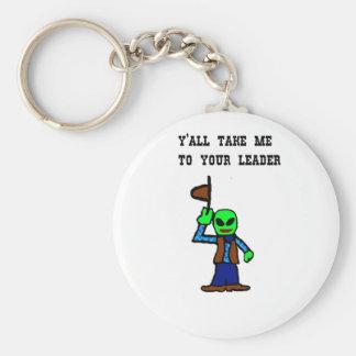 Cowboy Alien Cartoon Key Chain