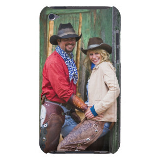 Cowboy and cowgirl holding hands in front of an iPod touch Case-Mate case