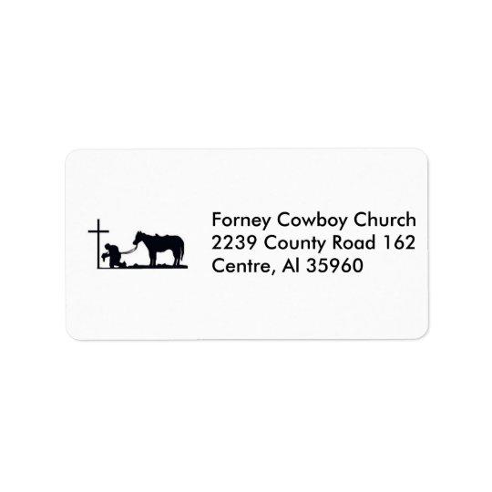 cowboy_and_cross, Forney Cowboy Church2239 Coun... Address Label