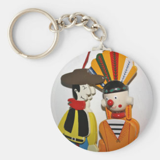 Cowboy and Indian Novelty Toy Key Chain