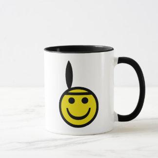 Cowboy and Indian Smiley Mug