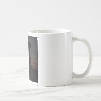 Cowboy at sunset basic white mug