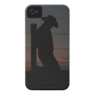 Cowboy at sunset iPhone 4 Case-Mate case