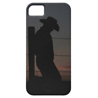 Cowboy at sunset iPhone 5 cases