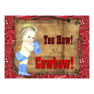 Cowboy Baby Shower 17 Cm X 22 Cm Invitation Card