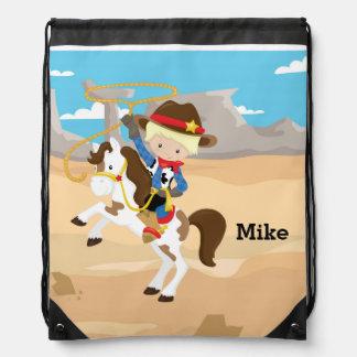 Cowboy Drawstring Bags