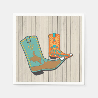 Cowboy BBQ and Square Dance Paper Serviettes