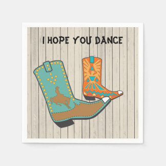 Cowboy BBQ and Square Dance special order Disposable Napkin