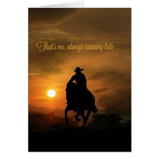 Cowboy Belated Birthday Card