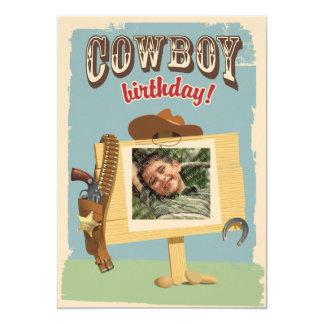 Cowboy Birthday 13 Cm X 18 Cm Invitation Card