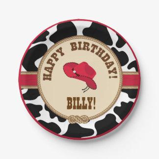 Cowboy Birthday, Customizable Plates
