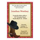 "Cowboy Birthday Invitation 5"" X 7"" Invitation Card"