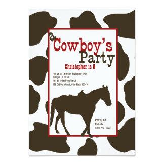 Cowboy Birthday Party 13 Cm X 18 Cm Invitation Card
