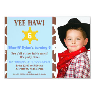 Cowboy Birthday Party Invitation