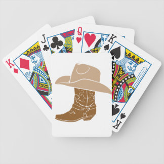 Cowboy Boot And Hat Bicycle Playing Cards