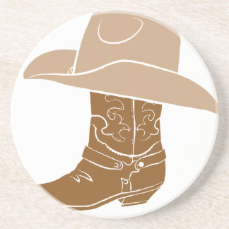 Cowboy Boot And Hat Coaster