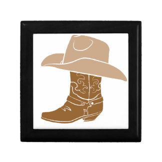Cowboy Boot And Hat Gift Box