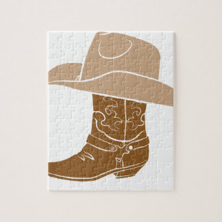 Cowboy Boot And Hat Jigsaw Puzzle