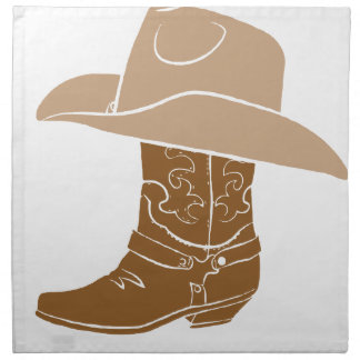Cowboy Boot And Hat Napkin