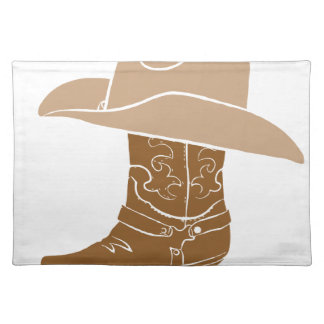 Cowboy Boot And Hat Placemat