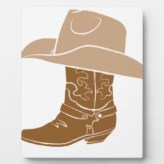 Cowboy Boot And Hat Plaque
