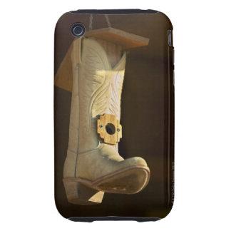 Cowboy boot bird house iPhone 3 tough cases