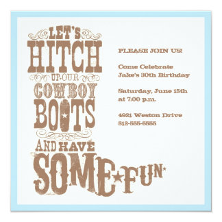 Cowboy Boot Invitation