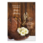 Cowboy Boots and Daisies Country Birthday Party Invitations