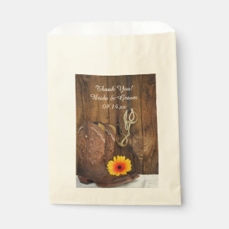 Cowboy Boots, Daisy Horse Bit Wedding Thank You Favour Bag