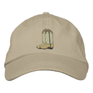 Cowboy Boots Embroidered Hat