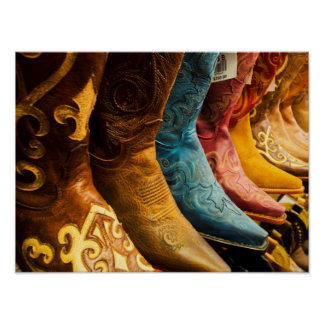 Cowboy boots for sale, Arizona Poster