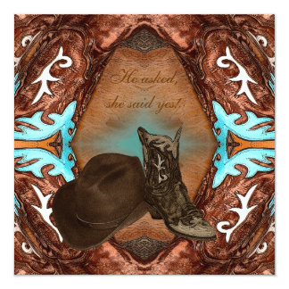 Cowboy Boots Kaleidoscope Wedding Invitation