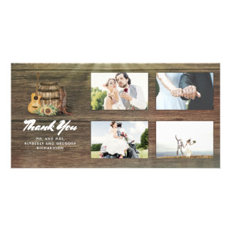 Cowboy Boots Rustic Country Thank You Wedding Card