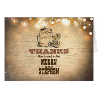 Cowboy Boots Rustic Country Wedding Thank You Card