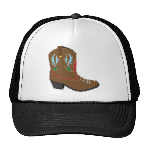 Cowboy Boots Short Trucker Hats
