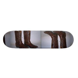 Cowboy boots skate board deck
