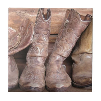 Cowboy Boots Small Square Tile