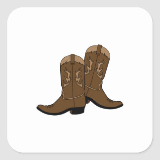 Cowboy Boots Square Sticker