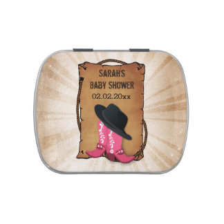 cowboy boots western theme personalized candy tins