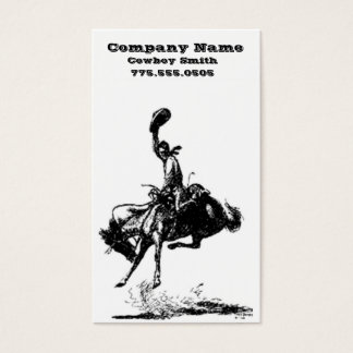 Cowboy business cards