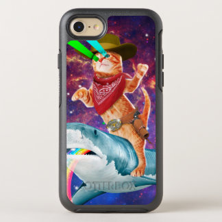Cowboy cat - orange cat - cat shark OtterBox symmetry iPhone 8/7 case