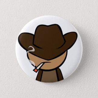 Cowboy Close-up 6 Cm Round Badge
