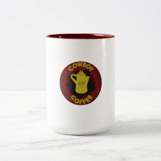 Cowboy Coffee Up Two-Tone Coffee Mug
