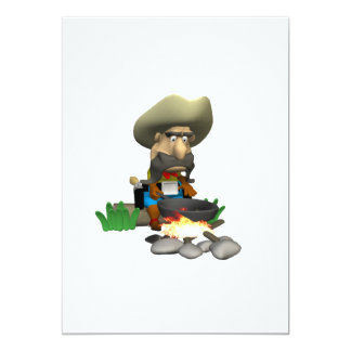 Cowboy Cooking 13 Cm X 18 Cm Invitation Card