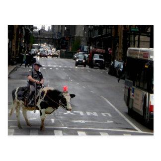 Cowboy Cop Postcard