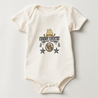 cowboy country rider baby bodysuit