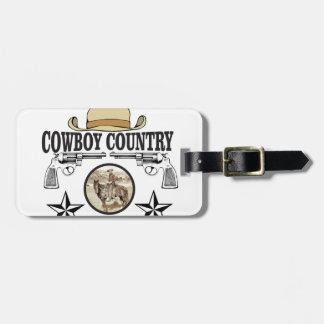 cowboy country rider luggage tag