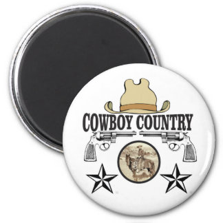 cowboy country rider magnet