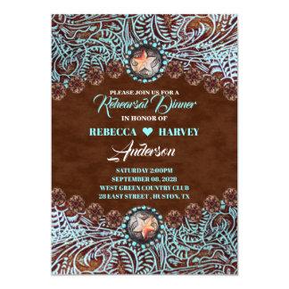 cowboy country western wedding rehearsal dinner card