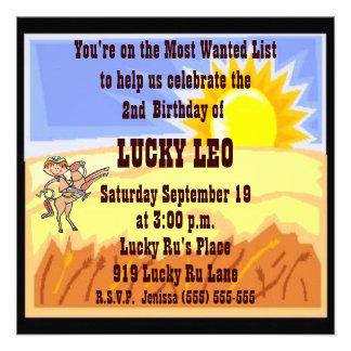 Cowboy Cowgirl Birthday Party Invitation